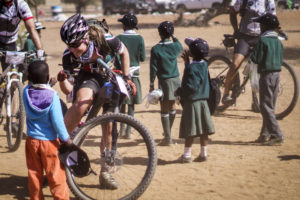 African Mountain Biking at its best, along a route through Botswana, Zimbabwe, and South Africa, RSA, following elephant tracks and